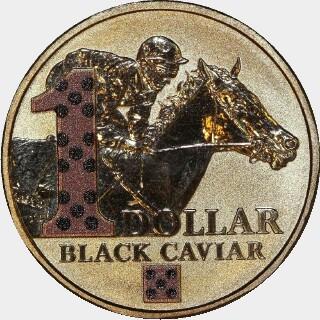 2013 Coloured One Dollar reverse