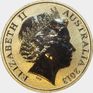 2013 Coloured One Dollar obverse