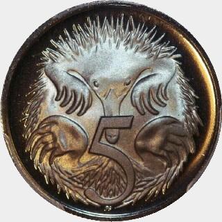 1971 Proof Five Cent reverse