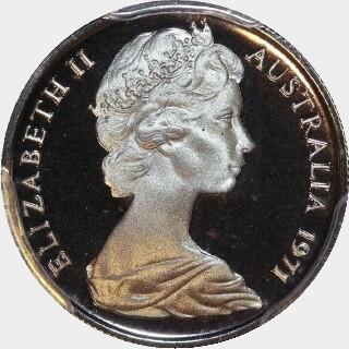 1971 Proof Five Cent obverse