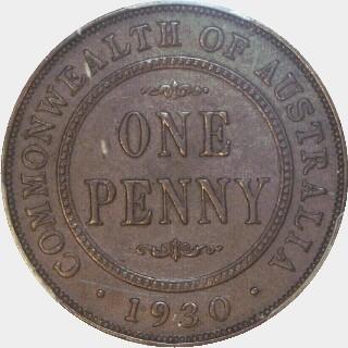 1930  Penny reverse