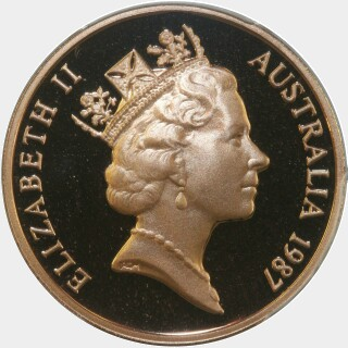 1987 Proof Two Cent obverse