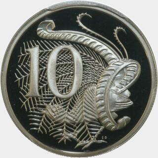 1987 Proof Ten Cent reverse