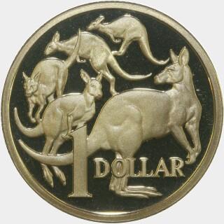1987 Proof One Dollar reverse