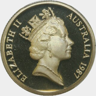 1987 Proof One Dollar obverse