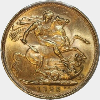 1925-S  Full Sovereign reverse