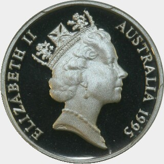 1995 Proof Five Cent obverse