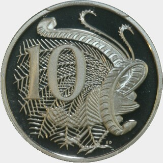 1995 Proof Ten Cent reverse