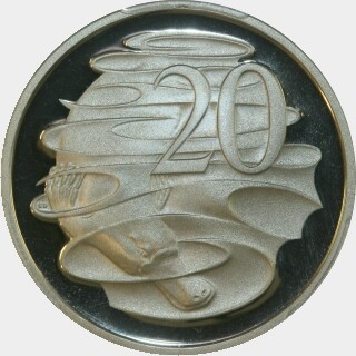 1995 Proof Twenty Cent reverse