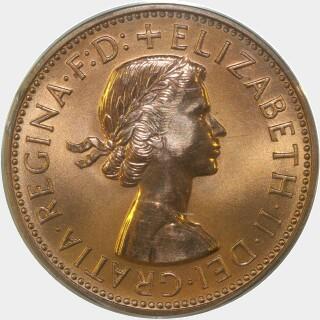 1961-Y Proof Half Penny obverse