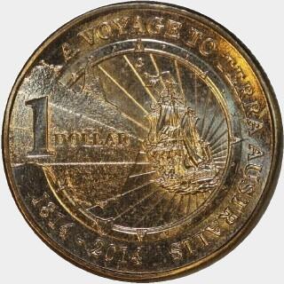 2014-C  One Dollar reverse