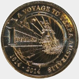 2014-P  One Dollar reverse