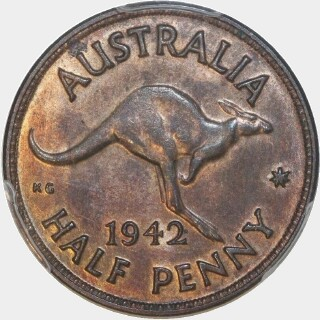 1942  Half Penny reverse