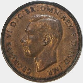 1942  Half Penny obverse