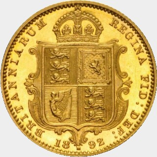 1892-M Pattern Half Sovereign reverse