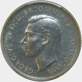 1938 Proof Sixpence obverse