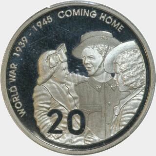 2005 Proof Twenty Cent reverse