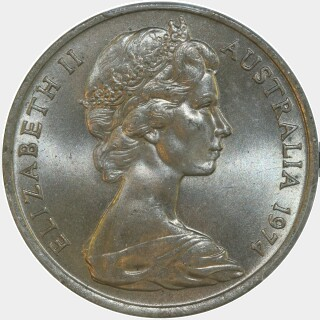 1974  Twenty Cent obverse