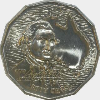 1970 Specimen Fifty Cent reverse