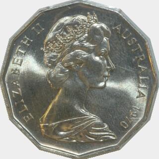 1970 Specimen Fifty Cent obverse