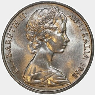 1968  Twenty Cent obverse