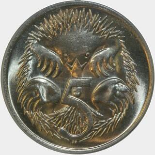 1972  Five Cent reverse