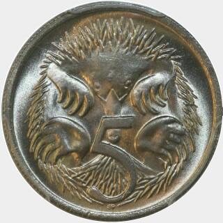 1968  Five Cent reverse