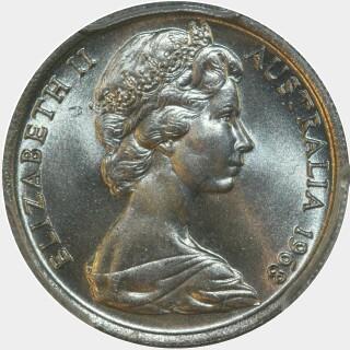 1968  Five Cent obverse