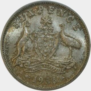 1936  Sixpence reverse