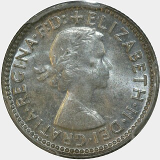 1955  Sixpence obverse