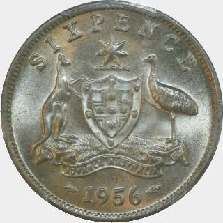 1956  Sixpence reverse