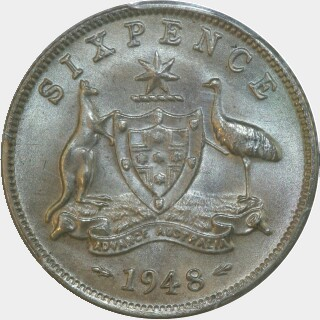 1948  Sixpence reverse