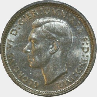 1942  Sixpence obverse