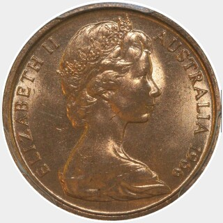 1966 Blunted 1st Whisker One Cent obverse