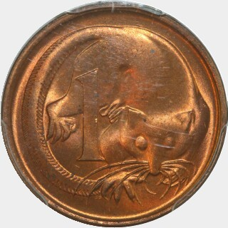 1966 Sharp Whiskers One Cent reverse