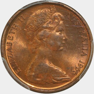1966 Sharp Whiskers One Cent obverse