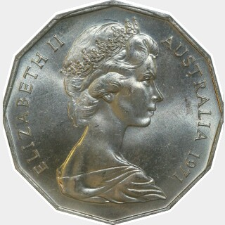 1971  Fifty Cent obverse