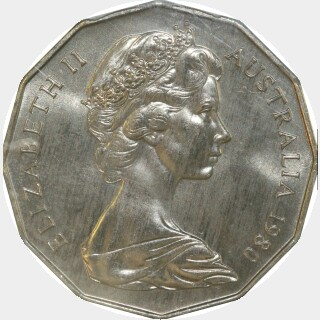1980  Fifty Cent obverse
