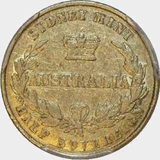 1861  Half Sovereign reverse