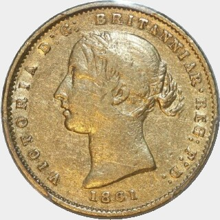 1861  Half Sovereign obverse
