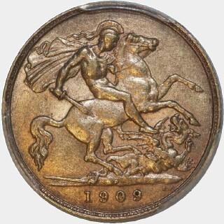 1909-P  Half Sovereign reverse