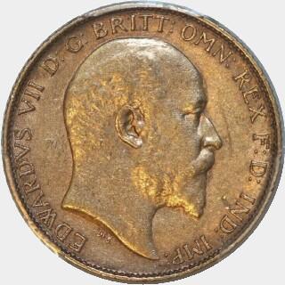 1909-P  Half Sovereign obverse