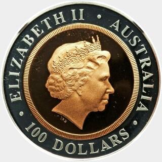 1999-P Bi-Metal One Hundred Dollar obverse