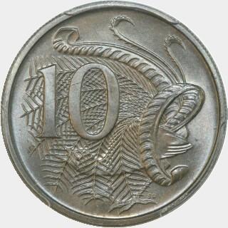 1968  Ten Cent reverse