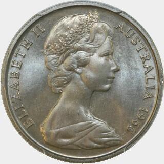 1968  Ten Cent obverse