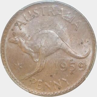 1959-Y  Penny reverse