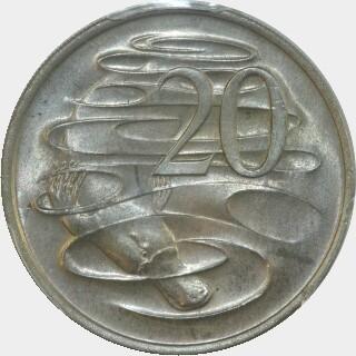 1972  Twenty Cent reverse