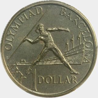 1992  One Dollar reverse