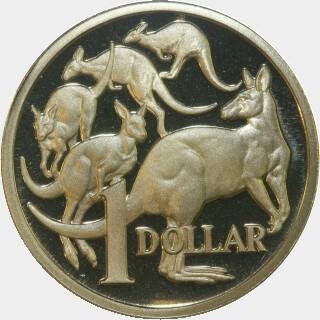1989 Proof One Dollar reverse