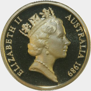 1989 Proof One Dollar obverse